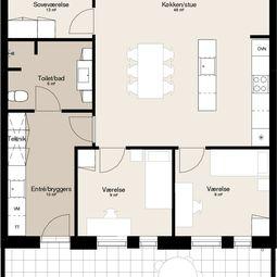 Lækkert fireværelses rækkehus i Silkeborg