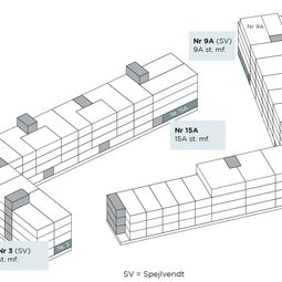 Moderne treværelses med terrasse