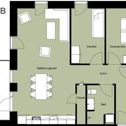 Treværelses lejlighed - indflytning nu