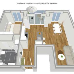 Ny stor toværelses lejlighed