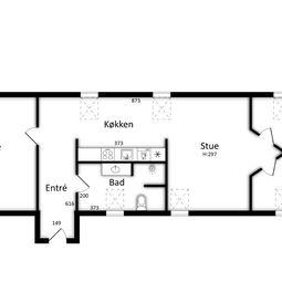 4 værelses midt i byen