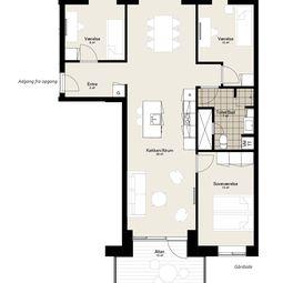 Fireværelses lejlighed