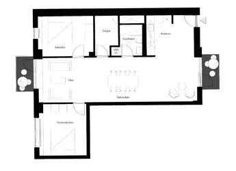 Stor 3-værelses lejlighed i hjertet af København