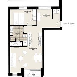 Toværelses lejlighed til leje i Randers