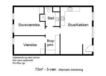 God 3-værelses lejlighed