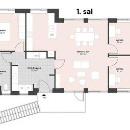 Skøn fireværelses lejlighed til leje