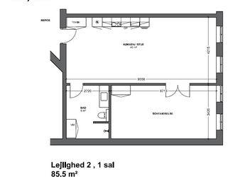 Nyopført 2-værelses midt i Fredericia med altan.