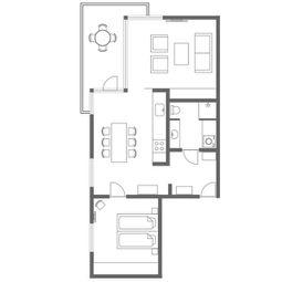 Charlottehaven Nordhavn | 77 m² hotellejlighed | 1-4 personer