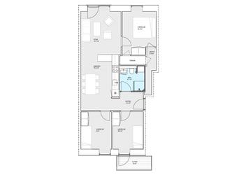 Stor delevenlig 4-værelses