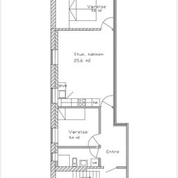 4930 3 vær. lejlighed, 64 m2, Maribovej 54 1. Sal