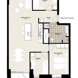 Ny fireværelses lejlighed