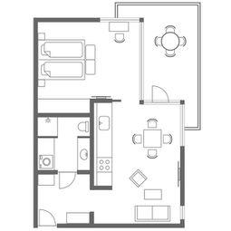 Charlottehaven Nordhavn | 60 m² hotellejlighed | 1-2 personer