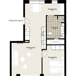 Dejlig lejlighed med altan