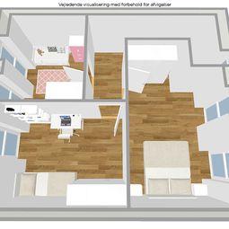 Fireværelses rækkehus m. carport