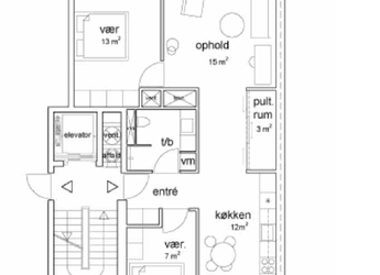 93 m² lejlighed | Nordhavn
