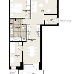 Hyggelig treværelses lejlighed med altan